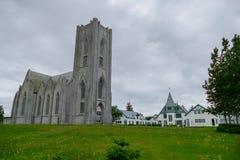 Καθολικός Χριστιανός churh στην πόλη reakjavik στην Ισλανδία Στοκ εικόνες με δικαίωμα ελεύθερης χρήσης