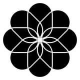 Καθολικό εικονίδιο λουλουδιών Στοκ Φωτογραφία