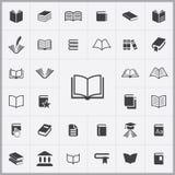 Καθολικό σύνολο εικονιδίων βιβλίων Στοκ εικόνες με δικαίωμα ελεύθερης χρήσης