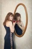 καθρέφτης γυαλιού κορι&tau Στοκ Φωτογραφία