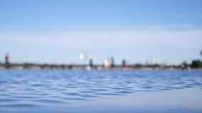 Καθρέφτης νερού στο Μπορντώ, Γαλλία απόθεμα βίντεο