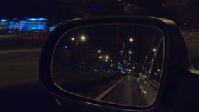 Καθρέφτης της οδήγησης αυτοκινήτων απόθεμα βίντεο