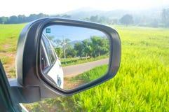 Καθρέφτης τομέων, βουνών και φτερών του αυτοκινήτου Στοκ Εικόνα