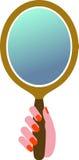 καθρέφτης χεριών Στοκ εικόνα με δικαίωμα ελεύθερης χρήσης