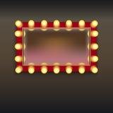 Καθρέφτης Makeup με τους λαμπτήρες απεικόνιση αποθεμάτων