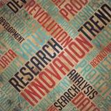 Καινοτομία - έννοια Grunge Wordcloud. ελεύθερη απεικόνιση δικαιώματος