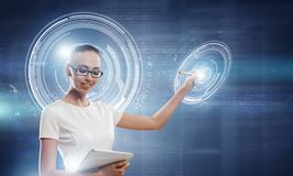 Καινοτόμες τεχνολογίες σε λειτουργία Μικτά μέσα Στοκ Εικόνες