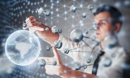 Καινοτόμες τεχνολογίες στην επιστήμη και την ιατρική Τεχνολογία που συνδέει Η έννοια της ασφάλειας Στοκ Φωτογραφίες