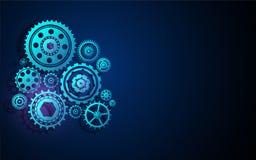 Καινοτόμο σχέδιο υποβάθρου έννοιας τεχνολογίας συστημάτων μηχανών δομών βαραίνω ροδών εργαλείων Στοκ Εικόνες