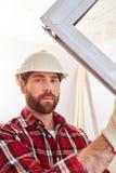 Καινούργιο σπίτι κτηρίου εργατών οικοδομών Στοκ Εικόνα