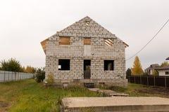 Καινούργιο σπίτι σε ένα εξοχικό σπίτι στη Ρωσία Στοκ φωτογραφίες με δικαίωμα ελεύθερης χρήσης