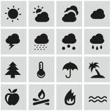 Καιρικά εικονίδια Στοκ εικόνα με δικαίωμα ελεύθερης χρήσης