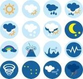 Καιρικά διανυσματικά εικονίδια Στοκ εικόνες με δικαίωμα ελεύθερης χρήσης