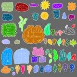 Καιρική συλλογή φθινοπώρου doodle Στοκ φωτογραφίες με δικαίωμα ελεύθερης χρήσης