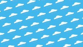 Καιρικοί εικονίδια, σύννεφα και ήλιος διανυσματική απεικόνιση