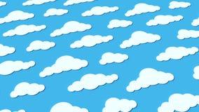 Καιρικοί εικονίδια, σύννεφα και ήλιος απεικόνιση αποθεμάτων
