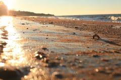 καιρικός χειμώνας ακτών παραλιών νεφελώδης Στοκ Εικόνα