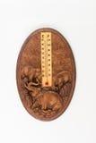 Καιρικό θερμόμετρο που απομονώνεται στο άσπρο υπόβαθρο Στοκ φωτογραφία με δικαίωμα ελεύθερης χρήσης