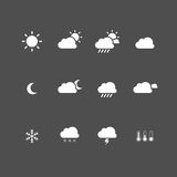 καιρός ήλιων βροχής εικονιδίων σύννεφων Στοκ Εικόνες