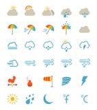 καιρός ήλιων βροχής εικονιδίων σύννεφων απεικόνιση αποθεμάτων