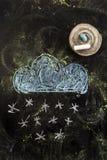 καιρός ήλιων βροχής εικονιδίων σύννεφων Στοκ εικόνες με δικαίωμα ελεύθερης χρήσης