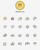 καιρός ήλιων βροχής εικονιδίων σύννεφων Στοκ φωτογραφίες με δικαίωμα ελεύθερης χρήσης