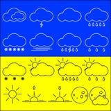 καιρός ήλιων βροχής εικονιδίων σύννεφων Στοκ φωτογραφία με δικαίωμα ελεύθερης χρήσης
