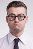 Και απογοητευμένος nerd υπάλληλος Στοκ εικόνα με δικαίωμα ελεύθερης χρήσης