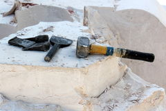 Και εργαλεία εργασίας Στοκ φωτογραφία με δικαίωμα ελεύθερης χρήσης