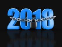 2018 και κλειδαριά Στοκ Εικόνες