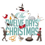 Και οι δώδεκα ημέρες των Χριστουγέννων απεικόνιση αποθεμάτων