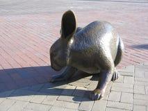 και το Hare' γλυπτό, πλατεία Copley, Βοστώνη, Μασαχουσέτη, ΗΠΑ Στοκ φωτογραφία με δικαίωμα ελεύθερης χρήσης