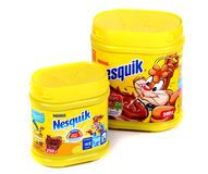 Κακάο της Nestle Nesquik στοκ εικόνα