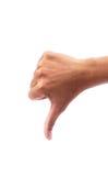 Κακά χέρια στα άσπρα υπόβαθρα Στοκ εικόνες με δικαίωμα ελεύθερης χρήσης