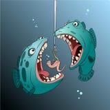 Κακά ψάρια στο σκοτάδι Ελεύθερη απεικόνιση δικαιώματος