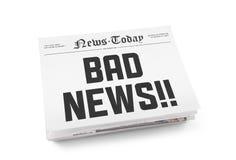 Κακές ειδήσεις Στοκ φωτογραφία με δικαίωμα ελεύθερης χρήσης