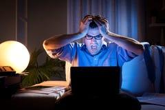 Κακές ειδήσεις αργά τη νύχτα Στοκ Εικόνα