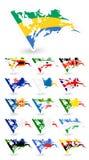Κακές σημαίες όρου της Αφρικής 4 Στοκ φωτογραφίες με δικαίωμα ελεύθερης χρήσης