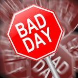 Κακή έννοια ημέρας. Στοκ Φωτογραφίες