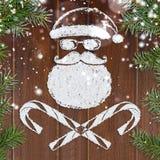 Κακή κάρτα Χριστουγέννων Santa Στοκ Εικόνες