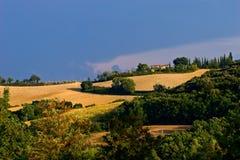 κακοί λόφοι toscane wheater Στοκ εικόνα με δικαίωμα ελεύθερης χρήσης