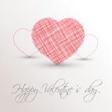 Κακογραμμένη ροζ καρδιά Στοκ φωτογραφία με δικαίωμα ελεύθερης χρήσης