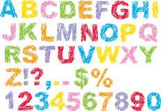 κακογραφία αλφάβητου Στοκ φωτογραφία με δικαίωμα ελεύθερης χρήσης