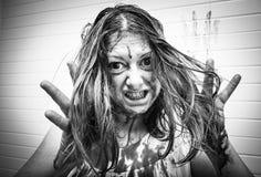 Κακοποιημένη γυναίκα τρελλή Στοκ φωτογραφίες με δικαίωμα ελεύθερης χρήσης