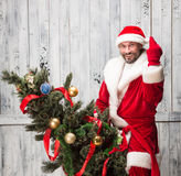 Κακός Άγιος Βασίλης Στοκ φωτογραφίες με δικαίωμα ελεύθερης χρήσης