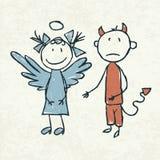 κακός καλός ρωμανικός κοριτσιών αγοριών Στοκ εικόνες με δικαίωμα ελεύθερης χρήσης