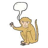 κακός πίθηκος κινούμενων σχεδίων με τη λεκτική φυσαλίδα Στοκ εικόνα με δικαίωμα ελεύθερης χρήσης