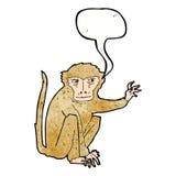 κακός πίθηκος κινούμενων σχεδίων με τη λεκτική φυσαλίδα Στοκ Φωτογραφίες
