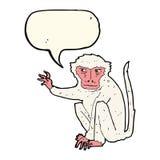 κακός πίθηκος κινούμενων σχεδίων με τη λεκτική φυσαλίδα Στοκ εικόνες με δικαίωμα ελεύθερης χρήσης