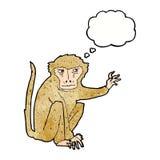 κακός πίθηκος κινούμενων σχεδίων με τη σκεπτόμενη φυσαλίδα Στοκ φωτογραφίες με δικαίωμα ελεύθερης χρήσης